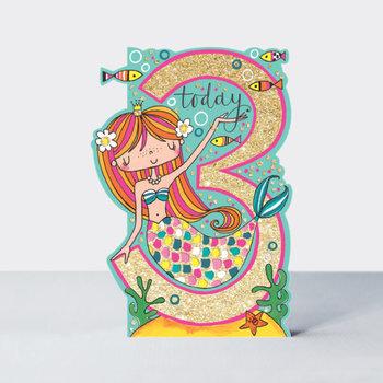 Rachel Ellen Designs Cards - Little Darlings - Age 3 Girl/Mermaid