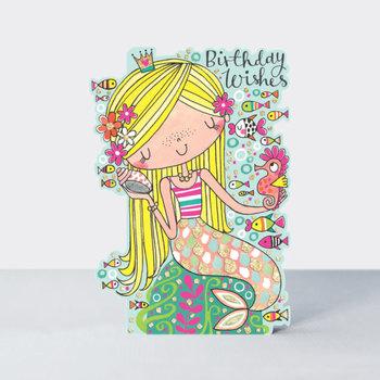 Rachel Ellen Designs Cards - Little Darlings - Birthday Wishes Mermaid